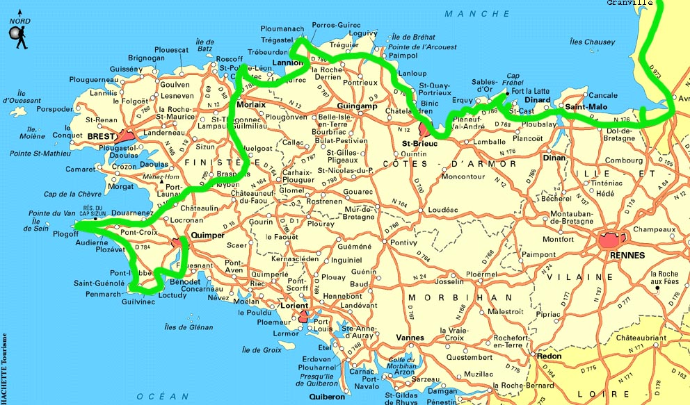 Carte Bretagne Velo.Velo Couche Bretagne